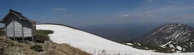 能郷白山の山頂(パノラマ)