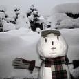 お正月の雪だるま