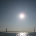 明石フェリーから明石海峡大橋
